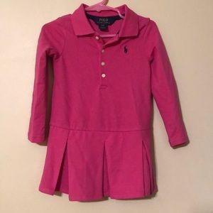 2T Girls Ralph Lauren long sleeved Polo dress